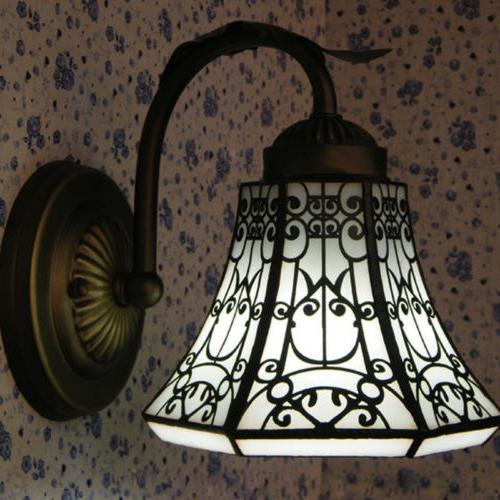 Sconce Stained Shade Wall Mount