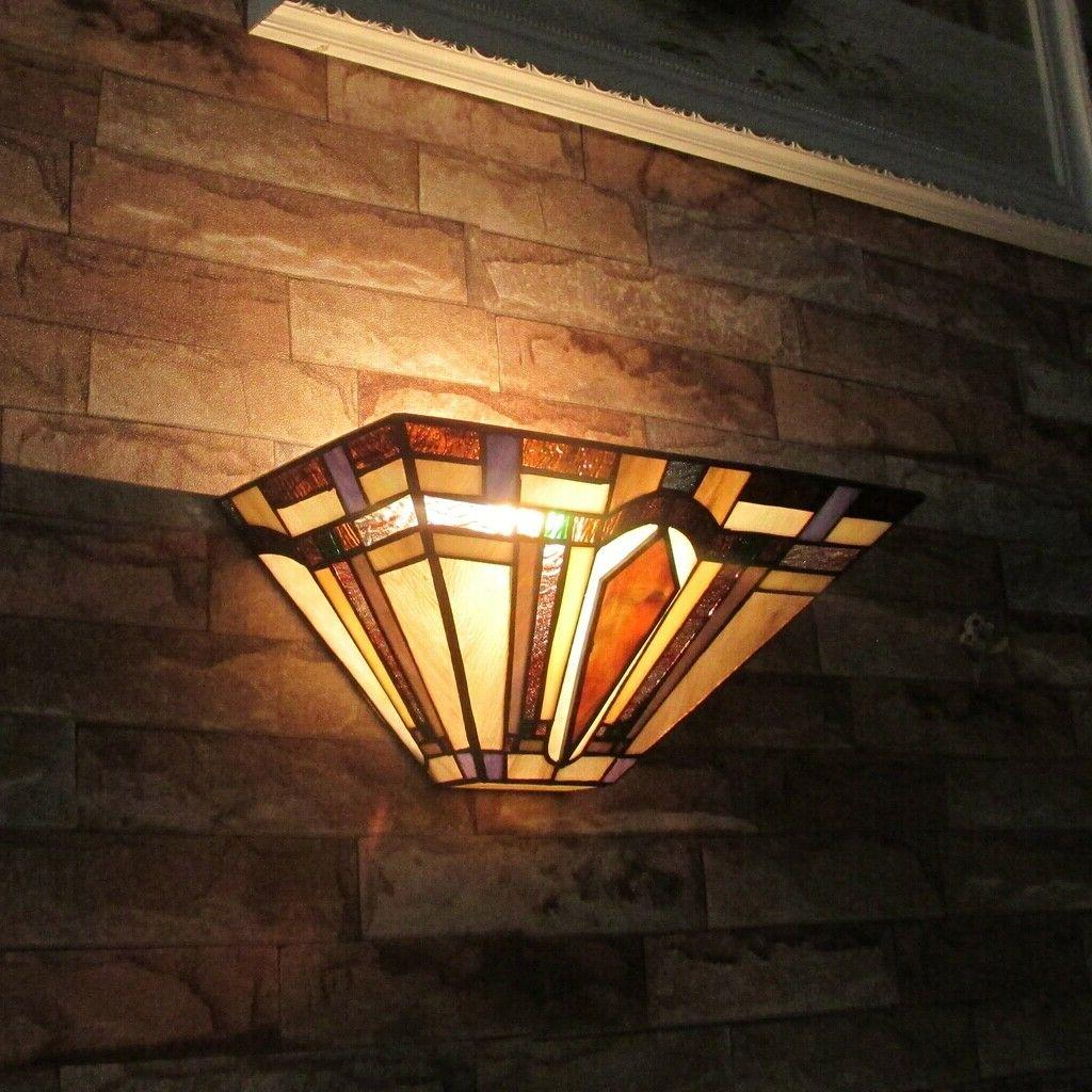 Tiffany Sconce Lamp Stained Glass Wall Light