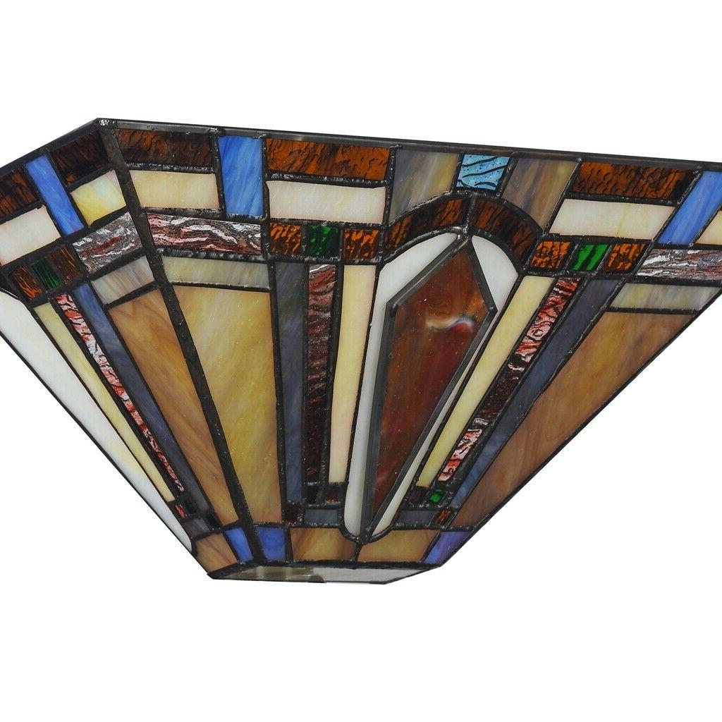 Tiffany Style Arrow Sconce Stained