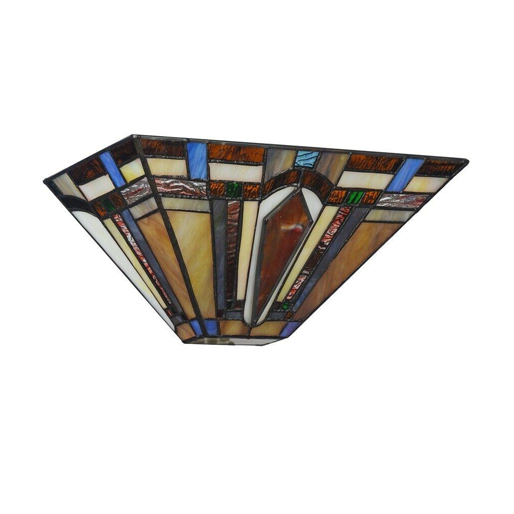 Tiffany Style Arrow Sconce Mission Stained Glass