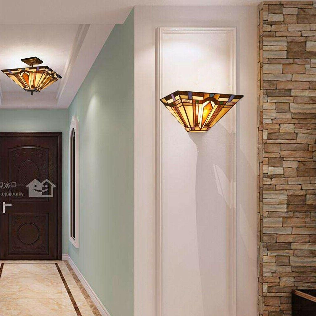 Tiffany Style Arrow Wall Stained