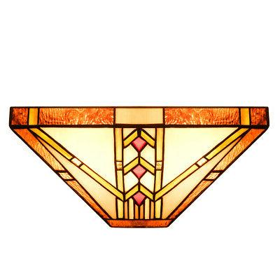 """Sconce with 12"""" Stained"""