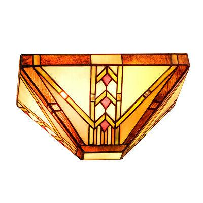 tiffany style mission 1 light wall sconce