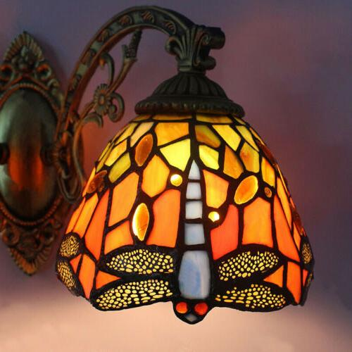 Tiffany Style Stained Sconce Wall Lamp Indoors Double