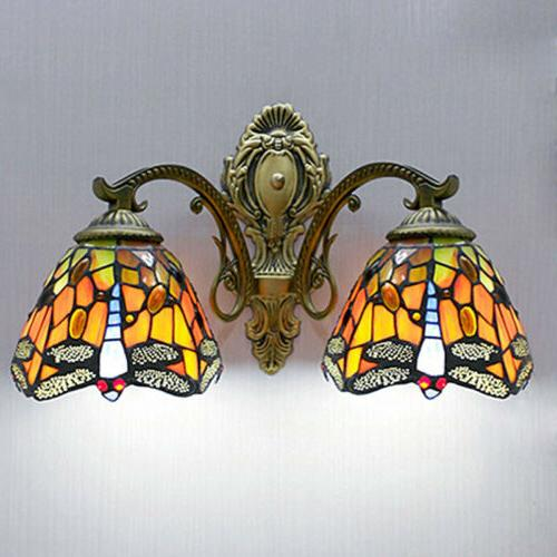 tiffany style stained glass sconce wall lamp
