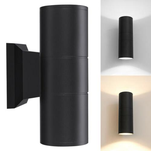 up down dual head wall light sconce