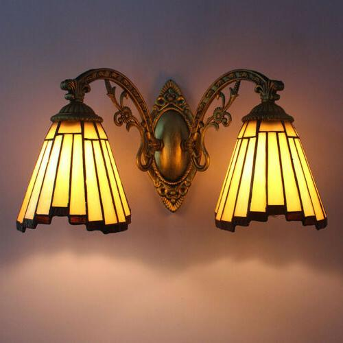 victorian style stained glass wall fixture light