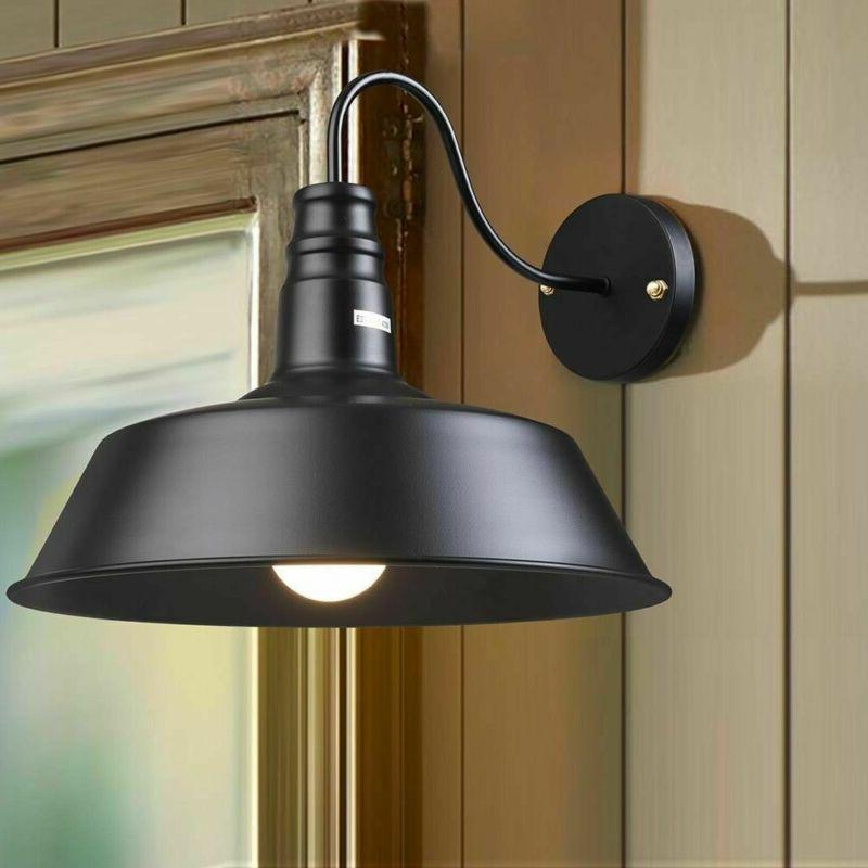 Retro Industrial Style Light Shade Black