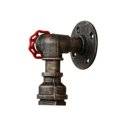 Vintage Industrial Pipe Steampunk Sconce