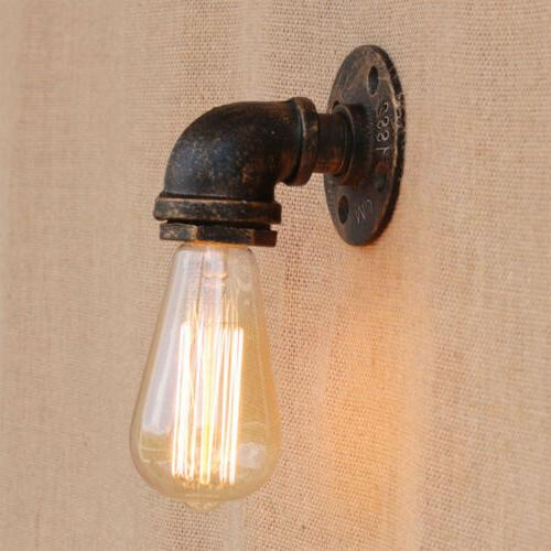 Vintage Industrial Water Pipe Steampunk Sconce