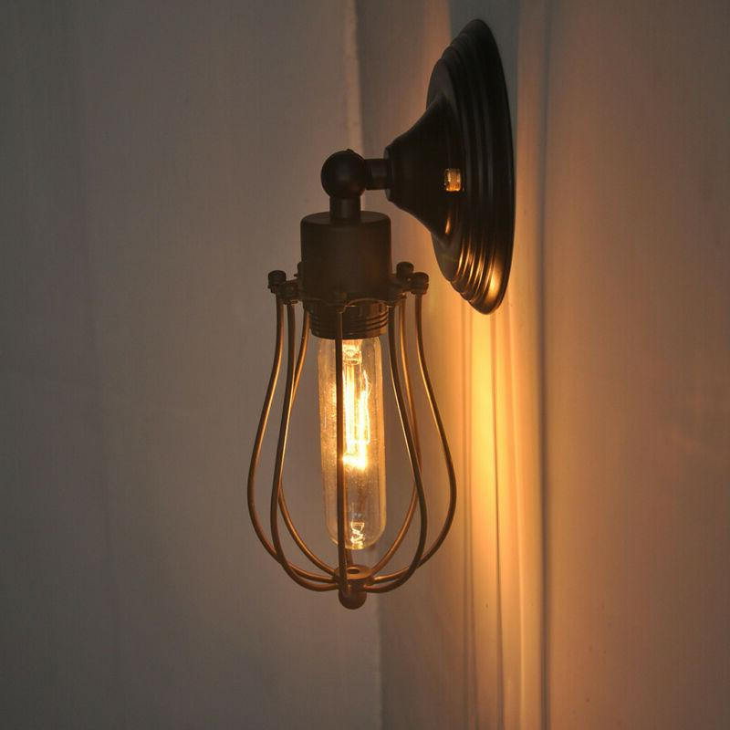 Industrial Wall Sconce Light Metal Shade Vintage Lamp Barn F
