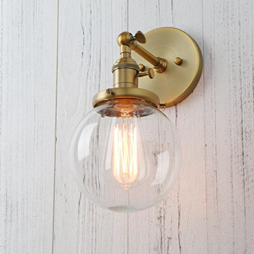 Permo Sconce Mini Round Clear Glass Globe Blown Shade