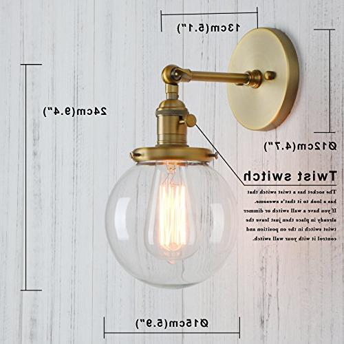 "Permo Wall Sconce Mini 5.9"" Round Glass Shade"