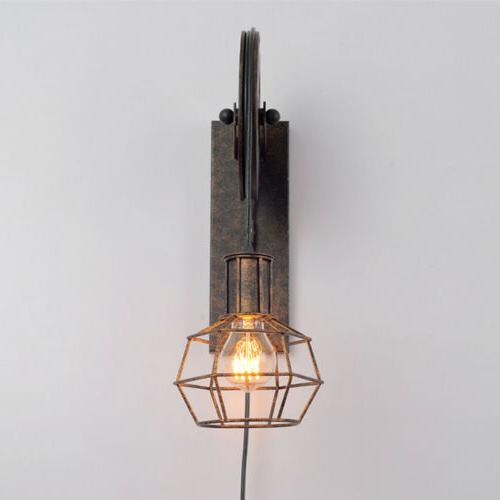 Industrial Wall Sconce Gear Pulley