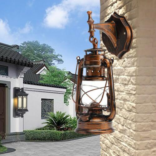 Wall Lantern Sconce Rustic Porch Light Hanging Lamp Outdoor