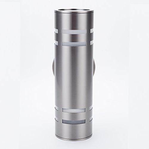 Outdoor Wall Light, PLT01 Waterproof Cylinder Porch Light Wall Stainless Steel for