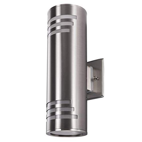 Outdoor Fixture, UL Exterior Mounted Sconce, 304 Stainless Cylinder Garden Patio