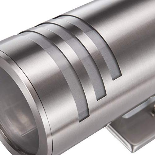 Outdoor Wall Fixture, UL Mounted IP54 Weatherproof 304 Stainless Cylinder Patio