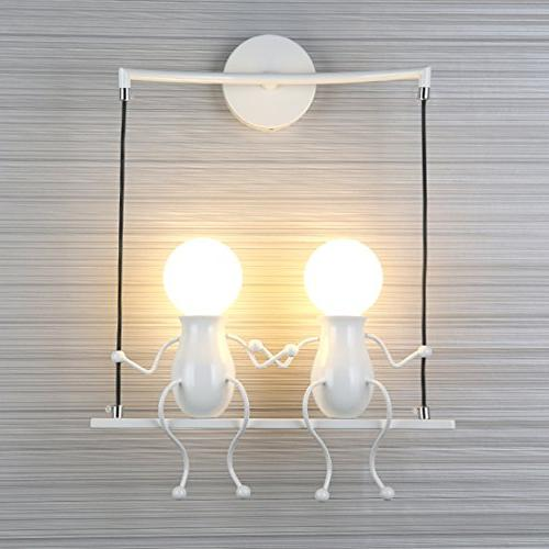 wall light fixtures creative cartoon