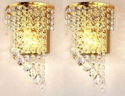 Sconce Modern Crystal Contemporary Indoor Vanity Chrome