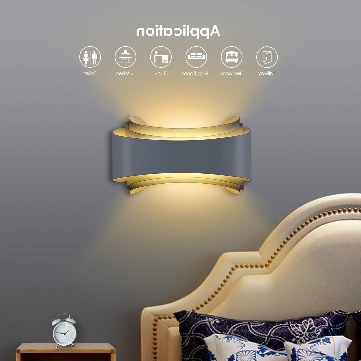 Albrillo Wall Sconce Wall Lights 10W Night Lights White, 800 Lumen