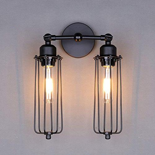 Lightess Wall Vintage Black Fixture With 2