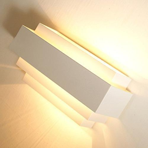 Lightess Wall Lamp Modern LED Wall Sconce Lighting Mini Night Bedroom Warm White