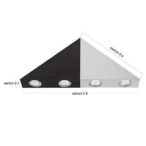 Lightess Sconce Wall Decorative Triangle Shape Home Theater, Warm