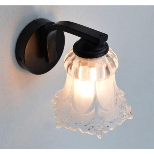 Wall Sconce Hardwire E12 Finish Painting Flower