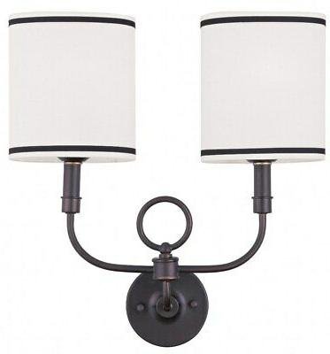 Livex Lighting Wall Sconces Bronze Wall Sconce w/ 2 Light 60
