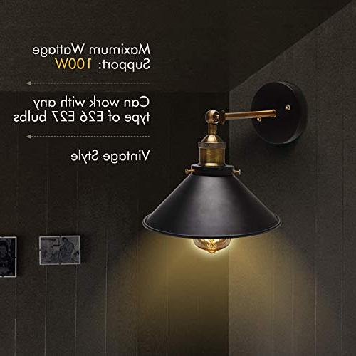 Wall UL Black Hardwire Vintage Wall Simplicity Bronze Finish Arm Swing Lights