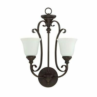 wg two light wall sconce
