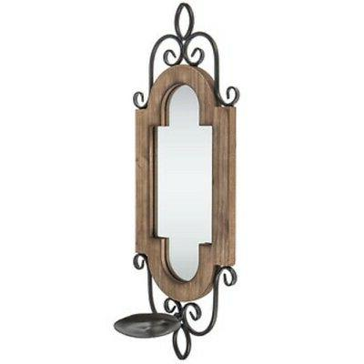 White Flourish Mirror Wall Sconce x 2 , Home & Cottage Rusti