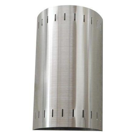 whitfield 2 light satin steel wall sconce