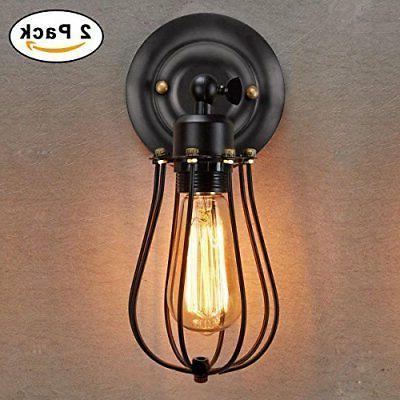 Wire Sconce KingSo Dimmable Metal Wall Shad...