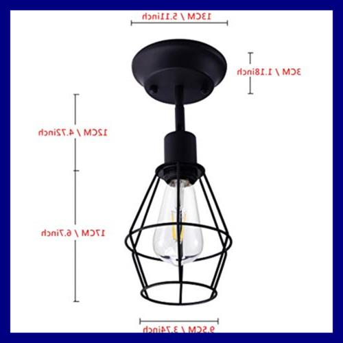 Wire Cage Dimmable Metal Hardwire Light Shade