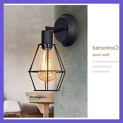 Wire Dimmable Metal Light Vintage Sty