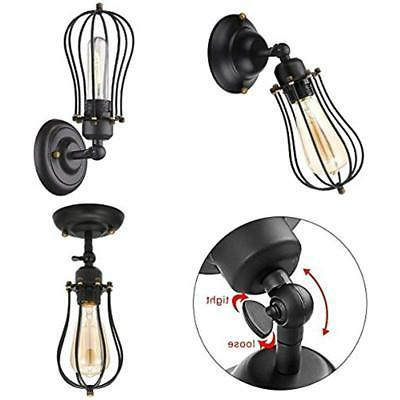 Wall Lamps Wire KingSo 2 Black Metal