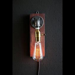 Lamp Wall Plug In Sconce Steampunk Light Vintage Industrial