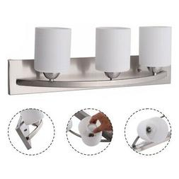 lampshade 3 light glass wall sconce modern