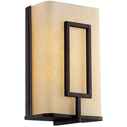 LB74121 LED Wall Sconce, Oil Rubbed Bronze with Amber Alabas