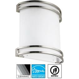LED 23 Watt Half Cylinder Wall Sconce, 3000K Warm White 4913
