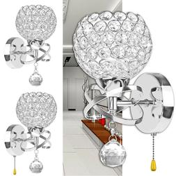 LED Modern Crystal Wall Lamp Sconce Light Bedroom Loft Hallw