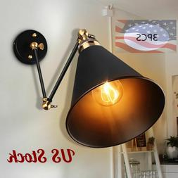 Industrial Retro Adjustable Swing Arm Light Wall Sconce Lamp