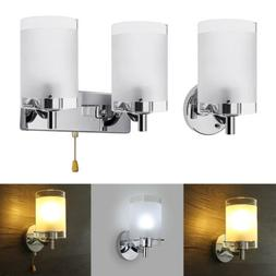 LED Modern White Wall Light Glass Sconce Lighting Lamp Fixtu