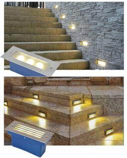 LED Stair Step Light Wall Lamp Pathway Waterproof Outdoor Un