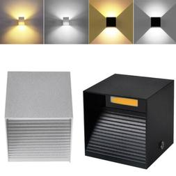LED Wall Light 12W Modern Up Down Cube Sconce  Indoor Outdoo