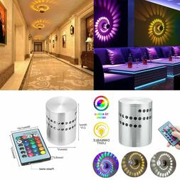 LED Wall Light RGB Spiral Wall Lamp Fixture Sconce KTV Disco