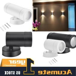 LED Wall Light Single/Double Head Up Down Sconce Porch Wall