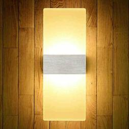 LED Wall Light Up Down Cube Indoor Outdoor Sconces Lighting
